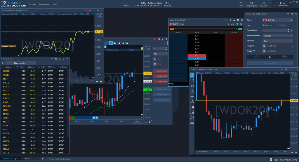 interface personalizável para qualquer tipo de perfil de trade - Trader Evolution