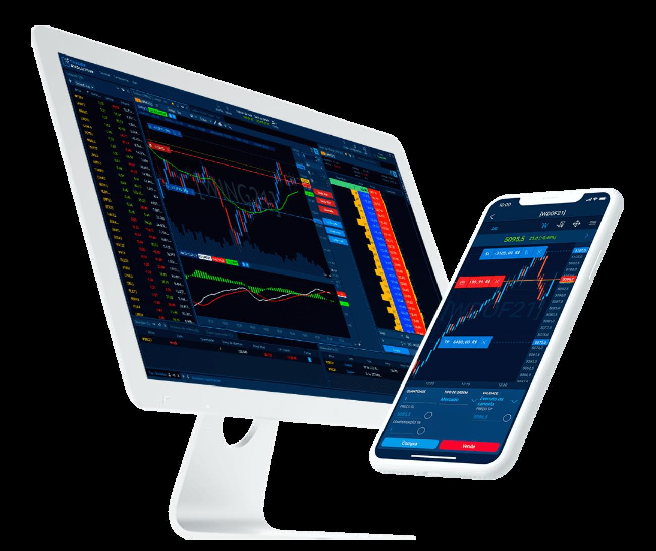 TraderEvolution Simulador DESKTOP E MOBILE