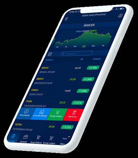 TraderEvolution Mobile Informações sobre os ativos e book de ofertas